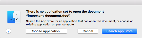 Ransomware error message on Mac when opening files